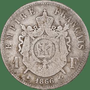 1 Franc Napoléon III en argent massif