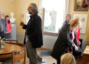 Guided tour in the exhibition on the salon of the duchess of Courland in Museum Posterstein Castle