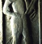 Pierre tombale de Tham Pflugk dans l'Eglise (Museum Burg Posterstein)