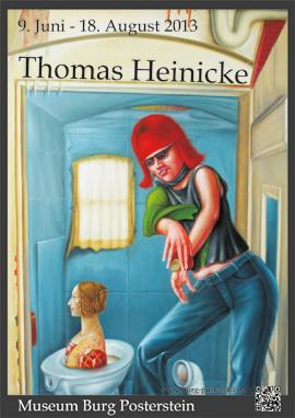 "Plakat Sonderausstellung ""Thomas Heinicke: Malerei - Grafik - Holzplastik"""