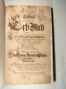 Erbbuch Familie Pflugk von 1704  (Handschrift, Museum Burg Posterstein)
