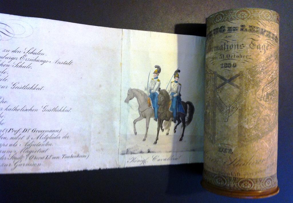 Das besonderes Exponat im Jubiläumsjahr der Reformation: Der Festumzug zur Reformationsfeier 1830 von Heinrich Geißler.
