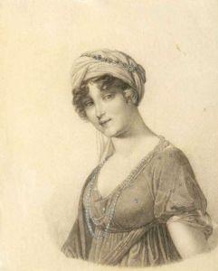 Anna Dorothea von Kurland, gezeichnet von Grassi (Museum Burg Posterstein)