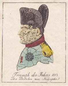 Karikatur Napoleon 1813 (Museum Burg Posterstein)