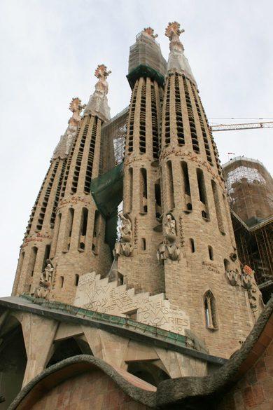 Türme der Sagrada Familia von Antoni Gaudi