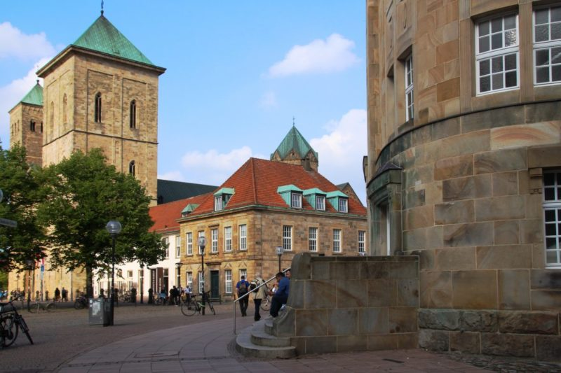 Domplatz Osnabrück, romanischer Dom