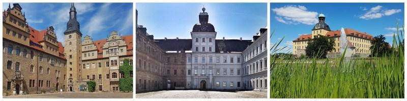 Schlösser in Saale-Unstrut, Schloss Merseburg, Schloss Neu-Augustusburg, Schloss Moritzburg, Weißenfels, Zeitz