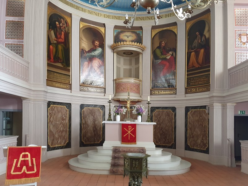 Kirche, Herz hinter dem Altar, Herz von Hardenberg, Schinkelkirche