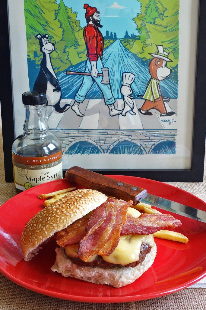 Paul Bunyan Maple Syrup Burger