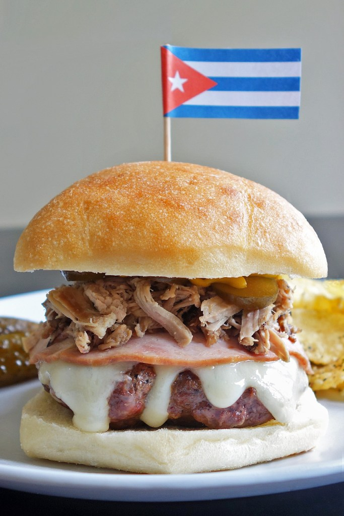 The Cuban Burger is a heavenly combination of pork, ham, swiss, mustard and pickles.