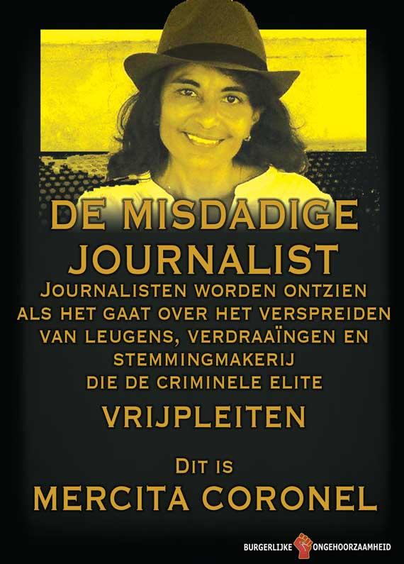 Daarom nu aandacht voor deze ophitser en leugenachtige journalist Mercita Coronel - Burgerlijke Ongehoorzaamheid