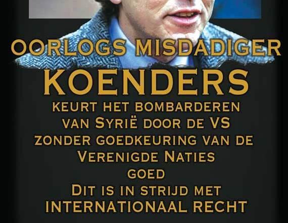 Is Koenders een oorlogsmisdadiger als hij aanvallen op Syrië in strijd met Internationaal Recht?