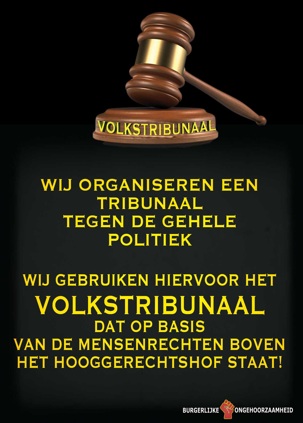 Volkstribunalen tegen alle politici wegens mensenrechtenschendingen