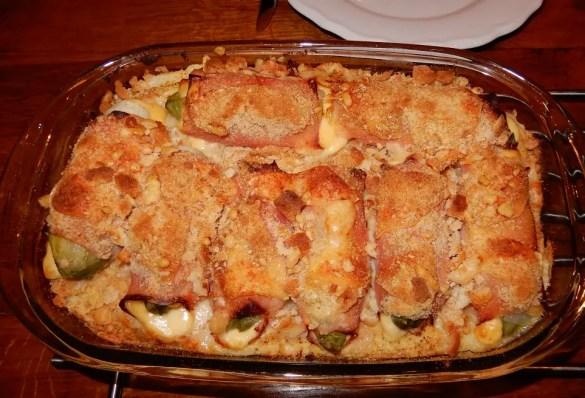 Witlofschotel met ham, kaas en aardappelpuree recept zonder pakjes en zakjes