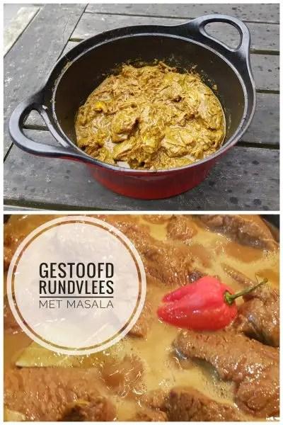 Recept gestoofd rundvlees met masala kruiden, roti, rundvlees, burgertrutjesnl