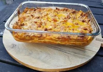 Recept lasagne met spitskool en gehakt, recept met spitskool, makkelijk, snel, zonder pakjes en zakjes