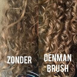 Het verschil met en zonder Denman Brush