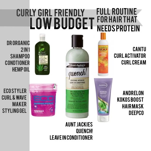 curly girl routine met proteine