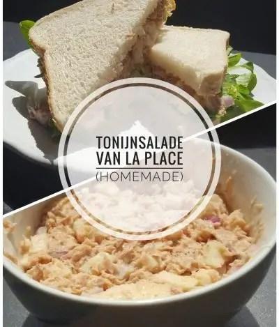 Recept tonijnsalade van La Place, copycat recept, tonijnsalade voor op brood