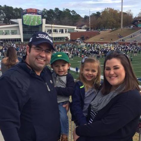 Georgia Southern Grads - David Lewis - Vice President Burgh Construction with wife Kristen Lewis and 2 amazing children