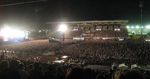 The crowd at Pearl Jam, QSAC Stadium