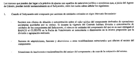 clausula antidilucion