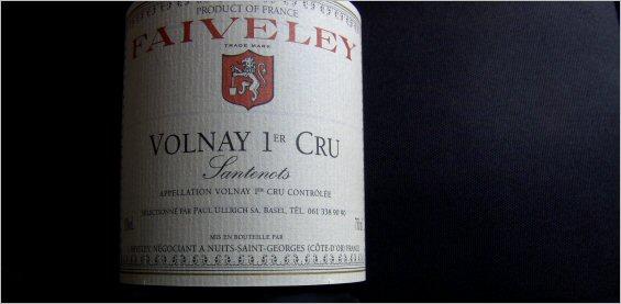 joseph faiveley 2005 volnay 1er cru santenots