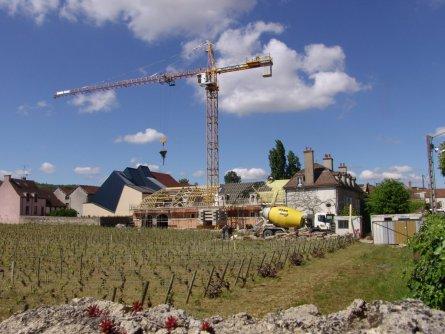 Domaine d'Eugenie cuverie construction