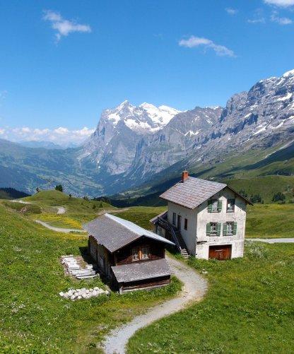 Towards Grindelwald from Kleine Scheidegg