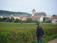 Romain-Arlaud-in-front-of-Morey-1er-Ruchots.-Morey-St-Denis-southern-edge-in-background