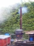 Day 12 - Romain Arlaud's incredible wood burning bio hot water heating stove - bizarre 1-001