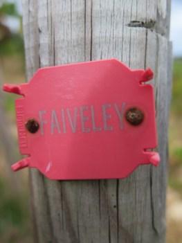 Faiveley post marker in Clos de Bèze