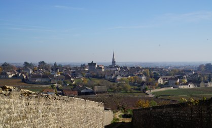 Towards Meursault town...