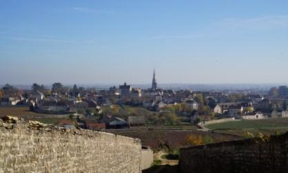 Towards Meursault town...