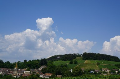 Big clouds over Pernand...
