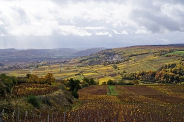 From Dents du Chien looking towards Chassagne