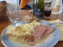 Marko lunch enhanced with nice gifted Chablis yum 12.51 pm