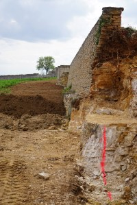 New wall coming - bottom of Volnay Caillerets