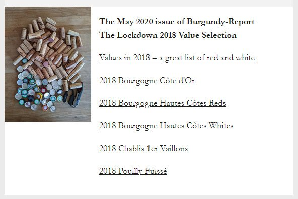 May 2020 Burgundy Report