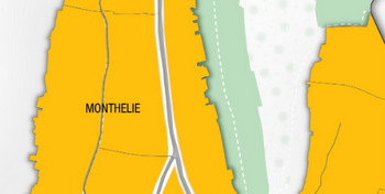 Monthelie map