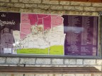 Vosne Bus Stop Wall Map of Vines & Domaines list