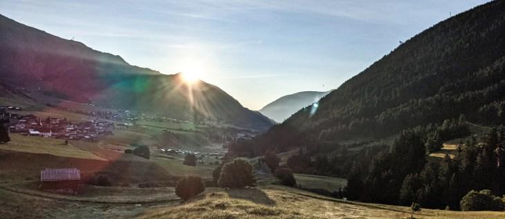 Sunrise in Sedrun