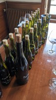 A few tasters before a walk in the vines...