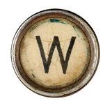 Type Writer Keys_W