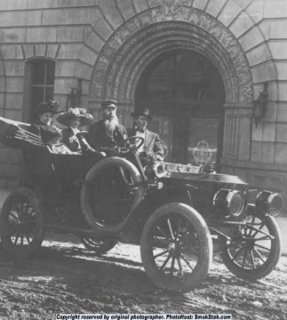 1907 Stanely Steamer, photo from Montana, but you can imagine Christina behind the wheel