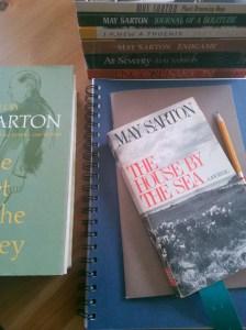 May Sarton Stacks and Notebook