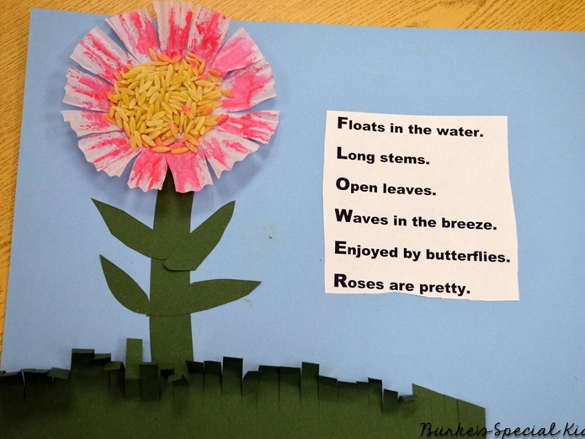 Final product of poem and flower