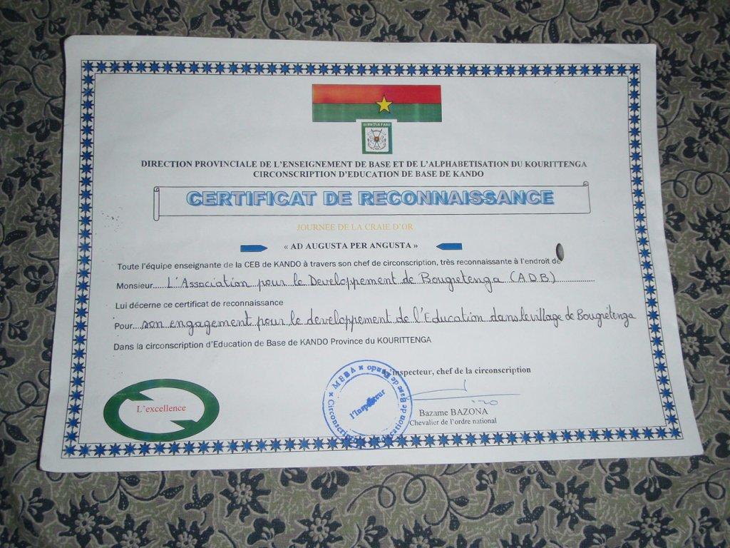 Association Burkina Songr Gratuit Scolaire Pour Tous