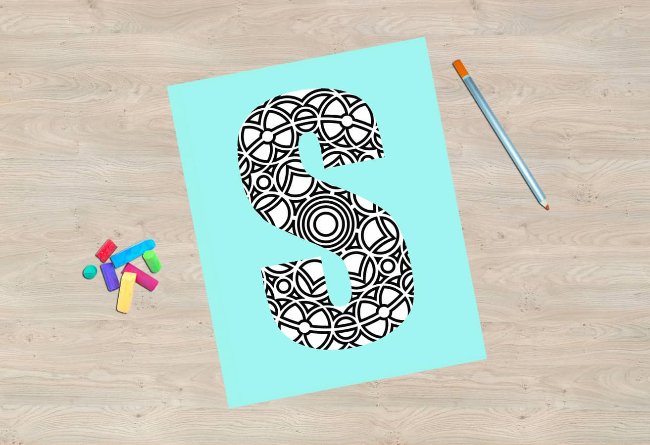 Free Printable Coloring Sheets All 26 Initials Available