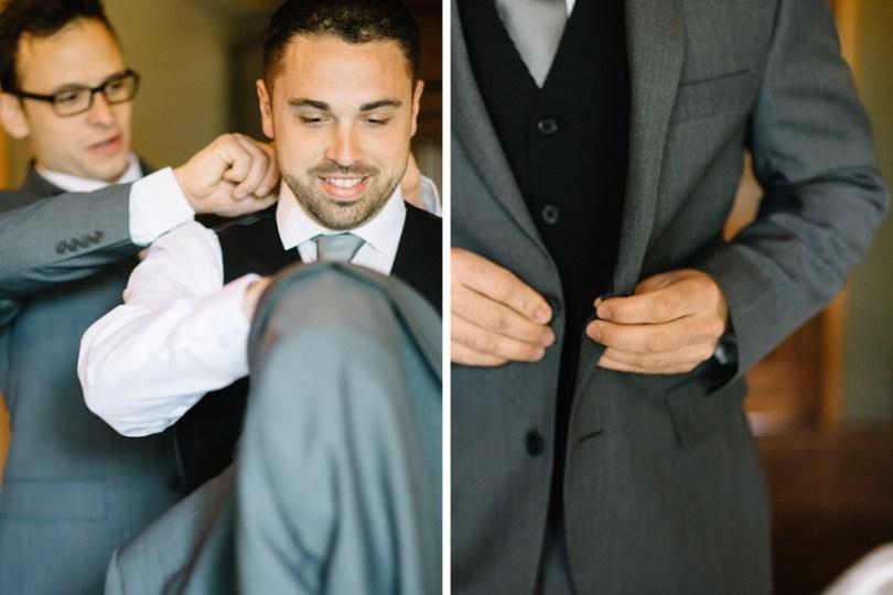 blush and gray weddings